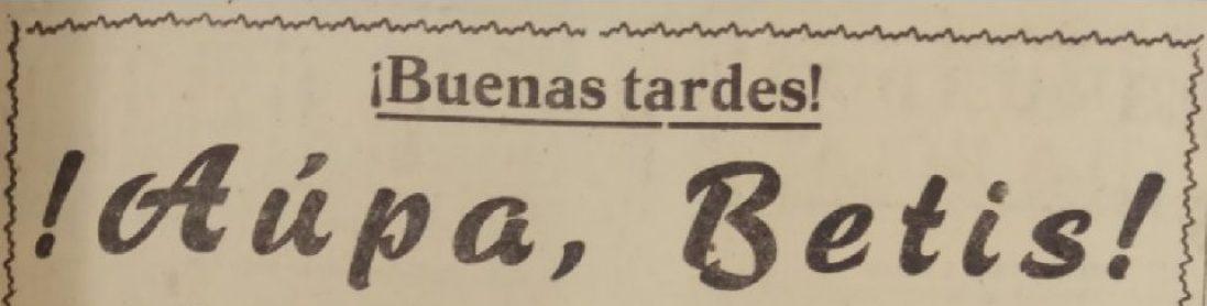 ¡Aúpa, Betis¡, de Emilio Vara