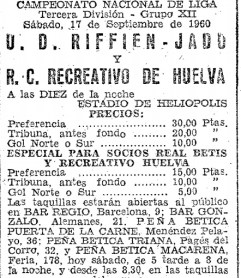 El Recreativo juega como local en Heliópolis. 1960