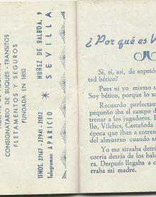 ¡¡Aupa Betis¡¡ 1953-1954 3DGrupo VI-Calendario Deportivo: ¿Por qué es Usted bético?