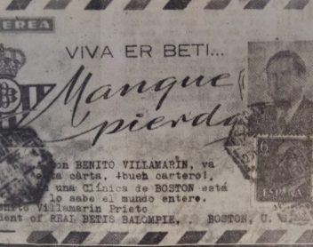 Carta a Villamarín en Boston 1961