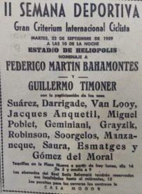 Criterium Ciclista en Heliópolis 1959