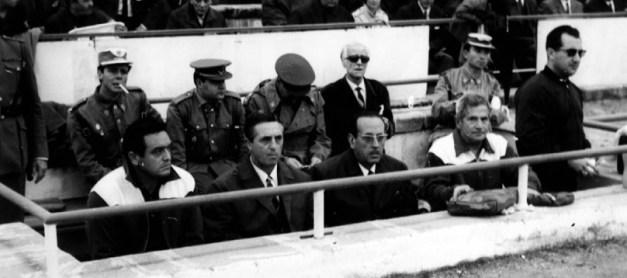 El banquillo bético en el Sánchez Pizjuán 1967