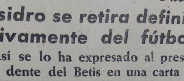 La retirada de Isidro Sánchez 1960