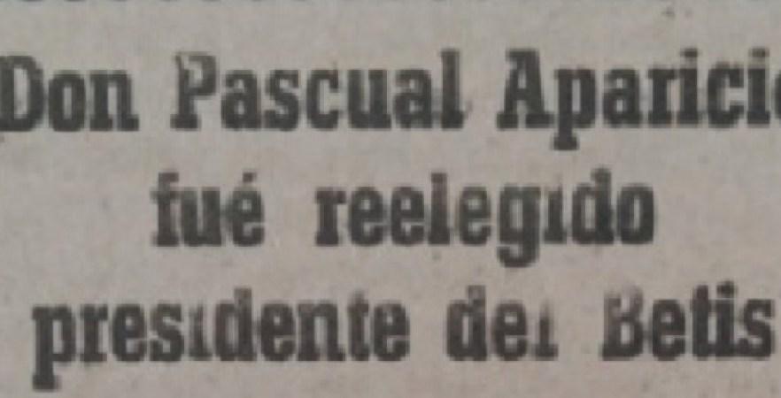 Hoy hace 71 años. Reelección de Pascual Aparicio como presidente.