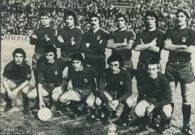 Antonio Biosca con la selección olímpica 1975