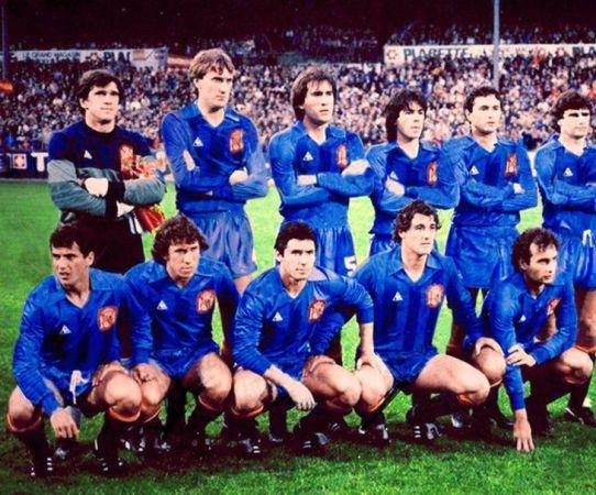 Béticos en la selección. Gordillo y Rincón. 1984