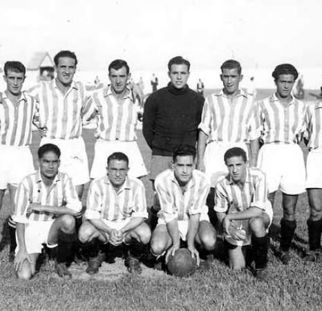 Alineación Betis-Hércules Campenato Mancomunado 1934.