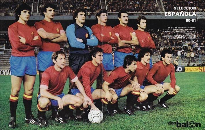 Béticos en la selección. Barcelona 1980.