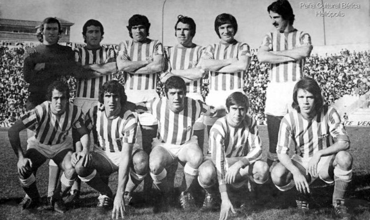 Alineación Betis-Celta Liga 1975.
