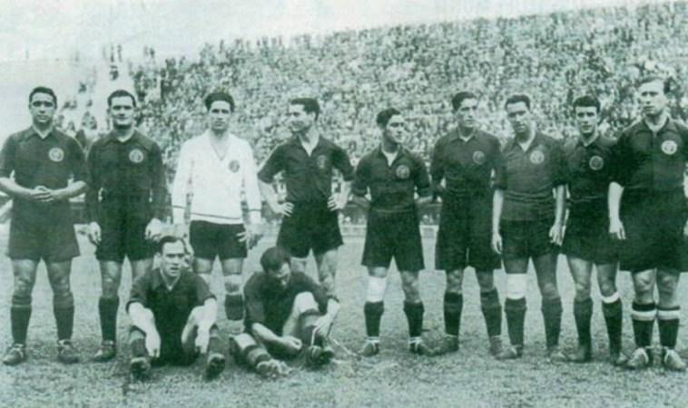 Béticos en la selección. Florencia 1934.