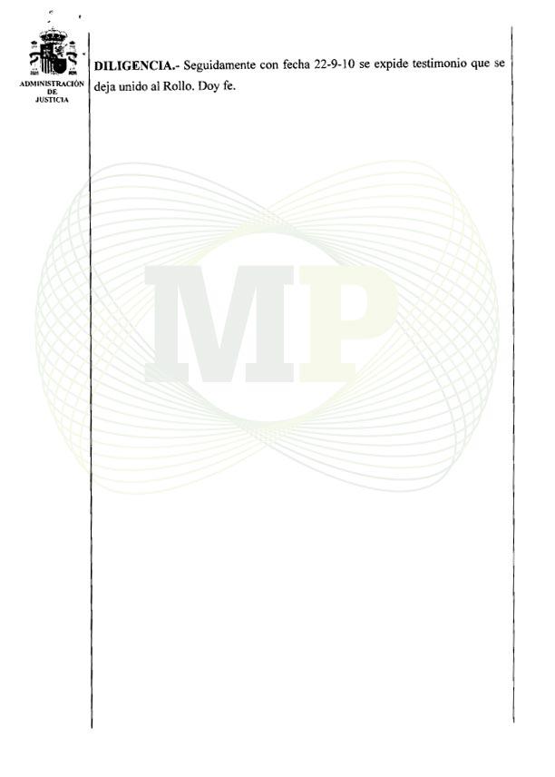 Página 9 del Auto de la Audiencia Provincia