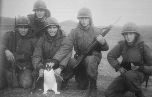 Soldados argentinos en las Islas Malvinas 1982