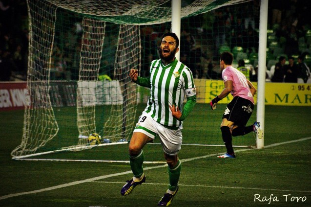 Molina celebra su gol (Real Betis 2-1 Girona)