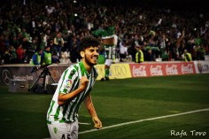 Dani Ceballos celebrando su gol (Real Betis 2-1 Girona)