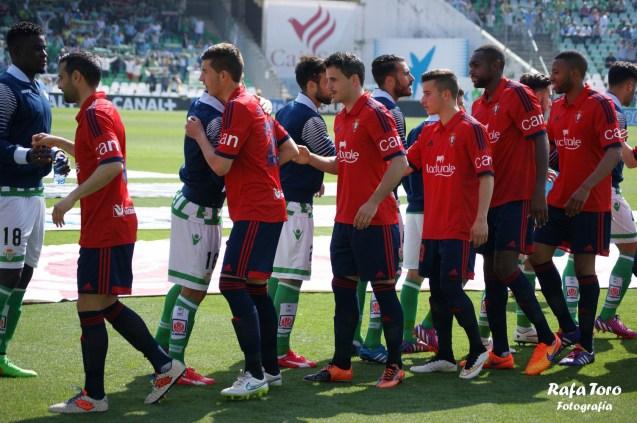 Salida al campo (Real Betis 3-0 Osasuna)