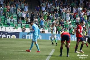 Rubén celebra su gol (Real Betis 3-0 Osasuna)