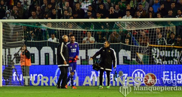 Adan se marcha lesionado  (Betis-Atletico 15/16)