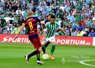 único disparo de Castro (Betis-Barcelona 15/16)