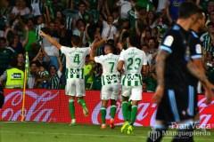 Celebración del gol Feddal (Betis-Celta 17/18)
