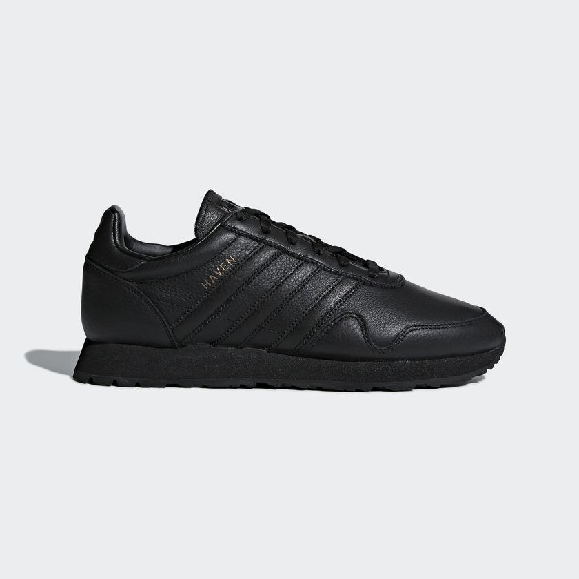 b40c40478b9bd5 adidas Originals Haven – Core Black   Core Black Leather