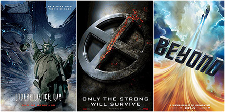 Independence Day: Resurgence, X-Men: Apocalypse, Star Trek Beyond