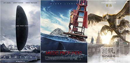 Arrival, The Shallows, Fantastic Beasts And Where To Find Them