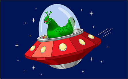 Chicken in a Flying Saucer