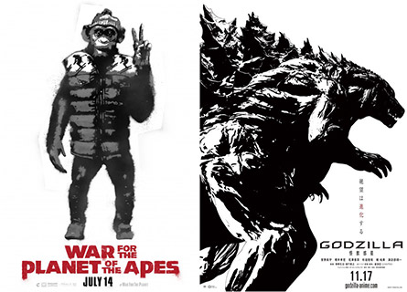 War for the Planet of the Apes / Godzilla: Monster Planet
