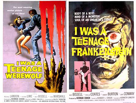 I WAs A Teenage Werewolf / I WAs A Teenage Frankenstein