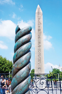 The Egyptian Obelisk and the Serent Column at the Sultan Ahmet Square