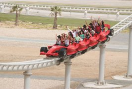 the Formula Rossa, at Ferrari World, is the worlds fastest roller coaster