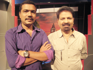Pravasalokam's producer Rafeeq Ravuther (left) and anchor PT Kunju Muhammed