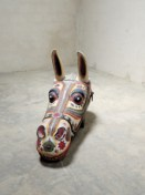 The gigantic wooden horsehead is priced at Rs 2.4 lakh on the website of Phantom Hands