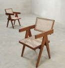 Vintage replicas of Pierre Jeanneret's design were sourced from an antique dealer in Bangalore by Phantom Hands