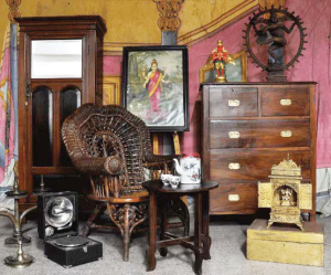 Balaji's Antiques has an extensive collection of colonial and ethnic furniture