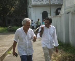 Sir Anish Kapoor with curator Jitish Kallat