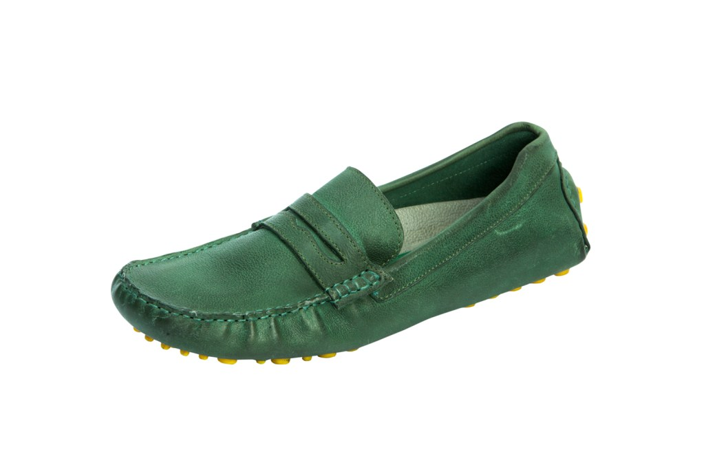 Green moccasins from Bata