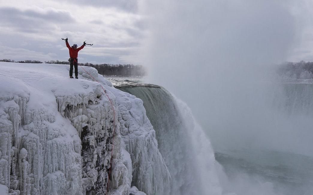 Niagara Falls Finally Scaled