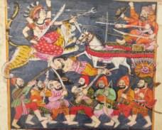 7.-Great-Goddess-battles-the-Demons---Sirohi