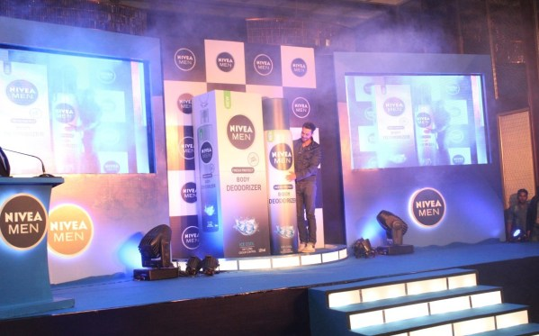 Actor  Arjun Rampal for NIVEA MEN Deodorizer launch