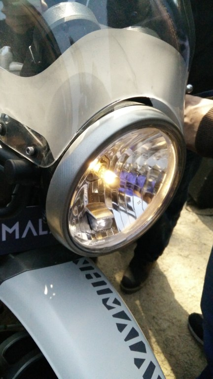 The Himalayan gets a clear lens round headlamp