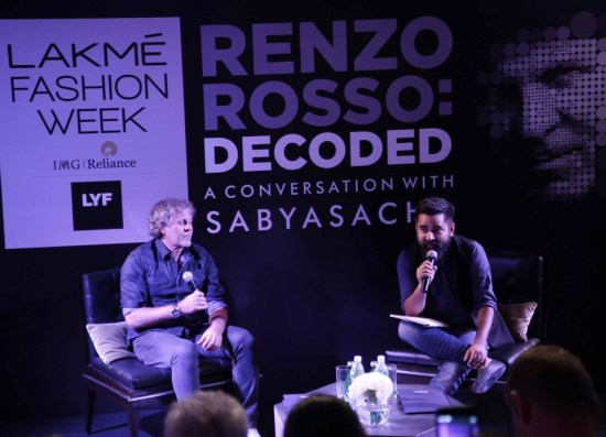 Sabyasachi in conversation with Renzo Rosso at LFW SR 2016