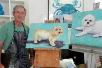 george bush painter