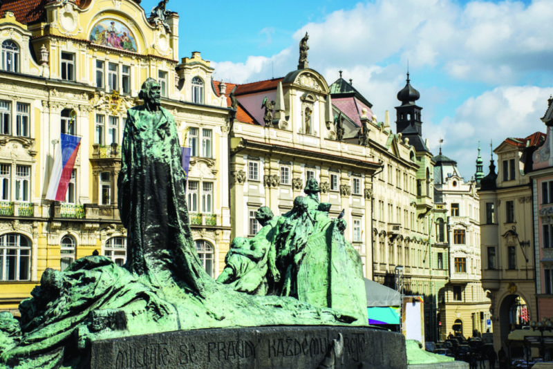 The Jan Hus Memorial is a tribute to one of the most prominent Czech reformers