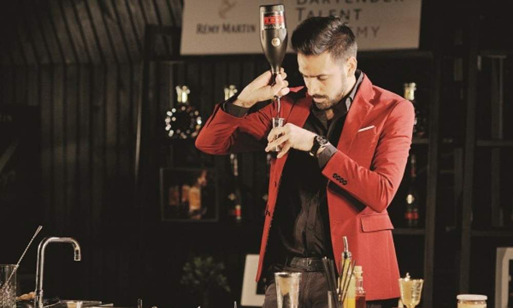 The Bartender With A 'Slash'
