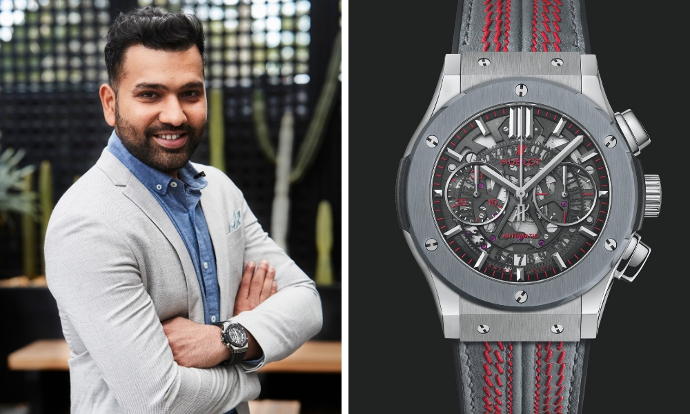Hublot And Rohit Sharma Unveil The Official 2019 ICC Cricket World Cup Watch