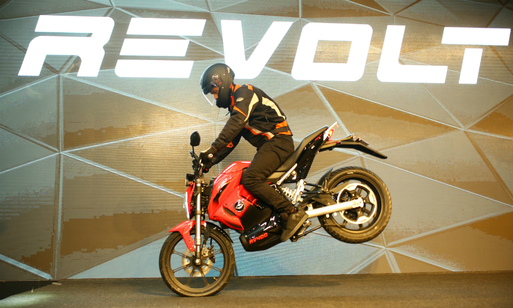 Revolt Intellicorp Unveils India's First AI-Enabled Electric Motorcycle