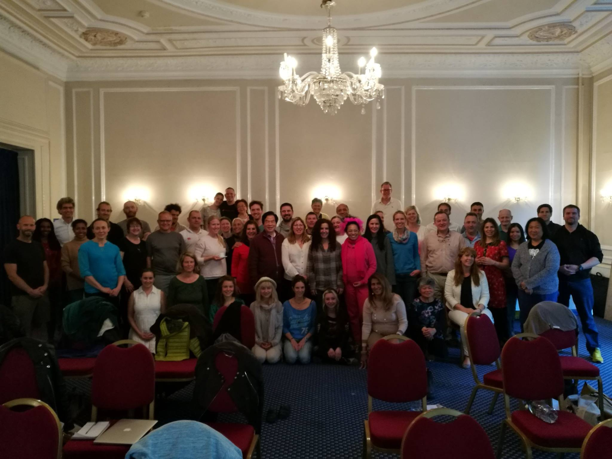 Group of students at European Spring 2017 in London, UK with Mantak Chia