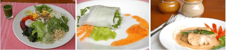 Healthy organic cuisine and food at Tao Garden Health Spa & Resort