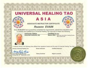 UHT Certification Copies – Rozenn Evain